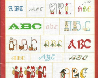 120 Alphabets by Carol Emmer Leisure Arts 2285 Cross Stitch Pattern Book