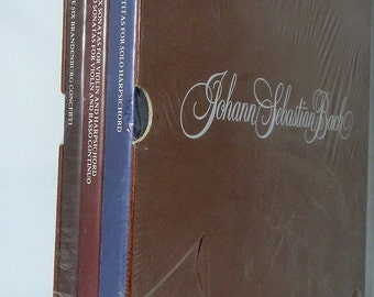 Vintage Record Set Unused Johann Sebastian Bach 9 Vinyl LP Sealed Box Set 1978 Smithsonian Collection P9 14825 DanPickedMinerals