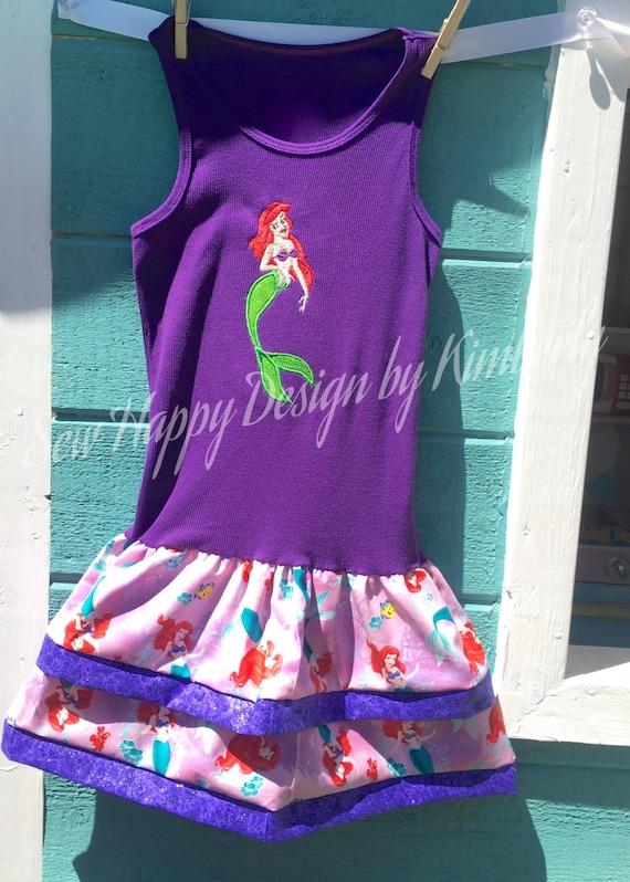LITTLE MERMAID ARIEL Tank Top Dress various sizes available