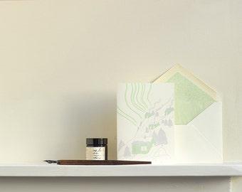 Nordic Hill Letterpress Christmas Card
