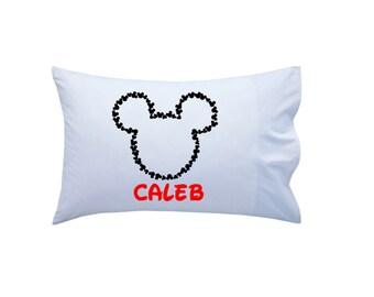 Mickey Mouse Pillowcase // Disney Cruise Pillowcase // Mickey Mouse Inspired Pillowcase // Disney Vacation Pillowcase