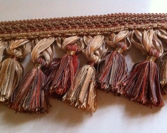 Fabulous Ribbon Tasseled Trim, 42 inches