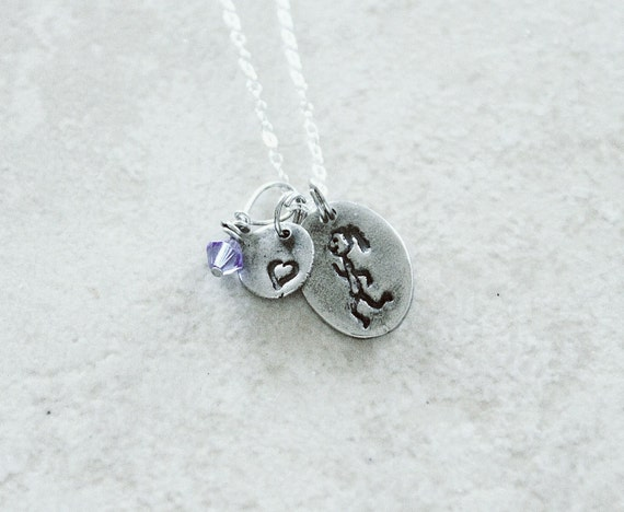 Running Girl Charm Necklace