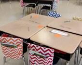 TAGLESS DELUXE Chair Pockets Teacher Classroom Organization KINDERGARTEN Elementary School Seat Sacks Covers Expandable Pocket Chevron Duck