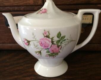 Vintage Canonsburg Pink Roses Teapot