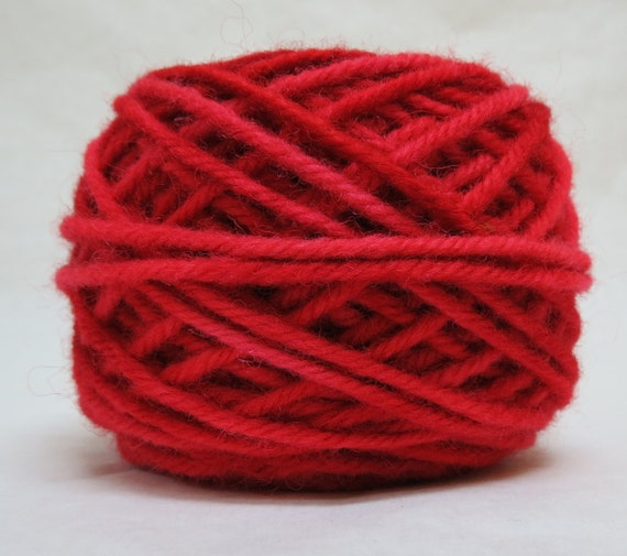 LOBSTER 100% Wool, 2 ozs. 43 yards, 4-Ply, Bulky weight and 3-ply Worsted weight yarn, already wound into cakes, ready to use, made to order