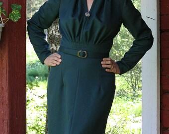 AVA GREEN - wiggle dress, UK size 14