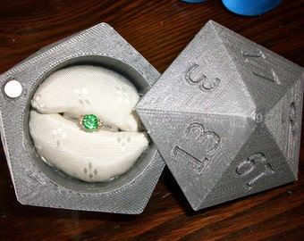D20 Ring Box 3D Printed Wedding Ring Box