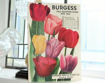 1930 Seed Catalog Burgess Fall Planting Guide