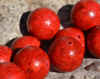 Beautiful 16mm round coral beads  SH150