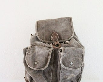canvas / denim rucksack