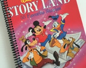 Disney STORY LAND Binding Repurposed from an actual book Autograph Album