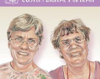 Friendship Portrait Digital Painting