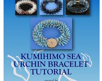 Tutorial for Kumihimo Bracelet, Sea Urchin Bracelet, Kumihimo Tutorial