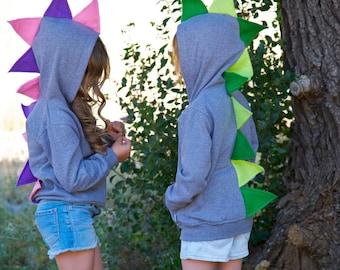 Dino Hoodie Boy, Toddler/Baby Dinosaur Sweatshirt, Dino pullover, Dinosaur dress up,Dinosaur Costume,Dinosaur Play Clothes, Birthday Gift