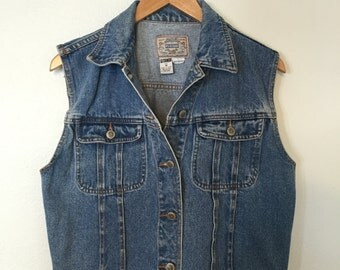 Vintage 90's Denim Jean Vest