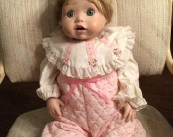 "1987 porcelain Elke Hutchens 24"" doll ,  price lowered"