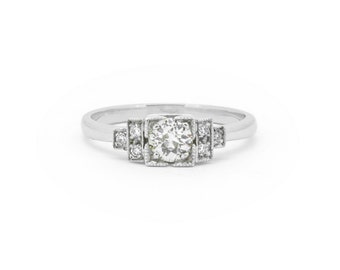 The Fitzgerald Ring - 18ct White Gold Diamond Engagement Ring