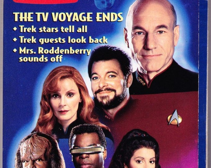 Vintage TV Guide, Star Trek, The Next Generation, May 1994, Collector's Edition, The TV Voyage Ends, Roddenberry, Stewart, Frakes, Dorn