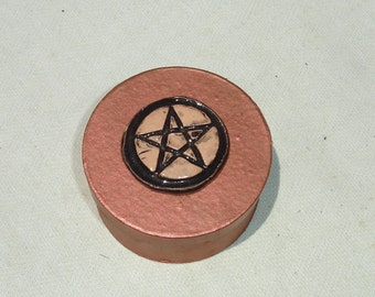 Copper Colored Pentagram Altar or Spell Box - Wiccan Decor