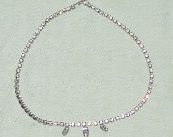Bright Vintage Rhinestone Necklace - FREE Shipping