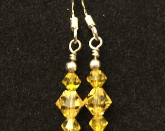 Yellow Solar Plexis Chakra Earrings