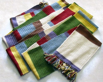 Tom Baker Doctor Who Scarf, Crocheted, Made to Order