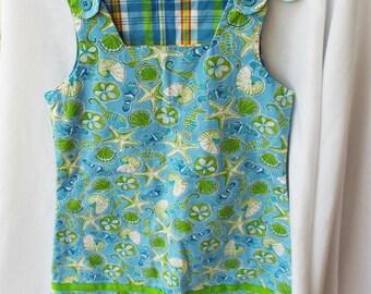 Vintage Hartstring Reversible Dress Plaid Shell Print