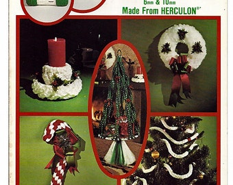 Macrame Christmas Macrame Pattern Book #2009 Using Maxi Cord