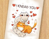 cat card, anniversary, valentines day card, pun card