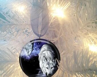 Wolf #11 Christmas Tree Ornament