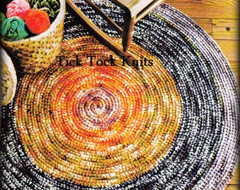 No.515 Rug Crochet Pattern PDF Vintage - Round-And-Round Rug - 1970's Retro Crochet Pattern - Kitchen Bedroom Living Room