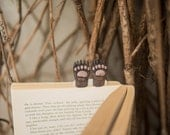 New! Bear paws bookmark. Brown bear paws in the book. Funny gift. Animal bookmark.