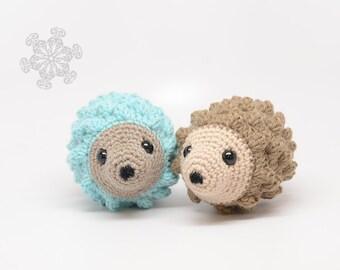 Beige Hedgehog Stuffed Animal, Natural Toy