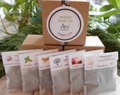 BLACK TEA Organic Sample Gift Box / Holiday Edition /Eco Tea Bag Add On Option/ Under 10 Dollars / Secret Santa /Stocking Stuffer