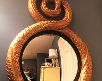 Carvers Guild Entwined Dolphins Convex Mirror