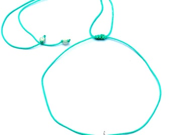 "Swell Yeah Necklace. Choker to 20"". Ocean Waves Necklace. Surf Jewelry. Rolling Waves."