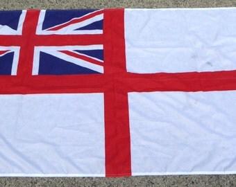British Royal Navy White Ensign Flag Vintage Miltary Flag Royal Navy Ships Flag Collectible Flag Polyester Flag