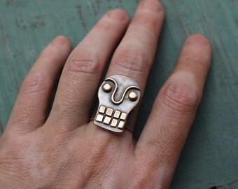 Bronce Calavera ring #4