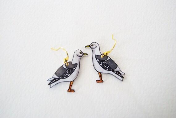 Seagull Earrings | Nautical Bird | Choose Dangle or Stud Earrings | Gift Under 25