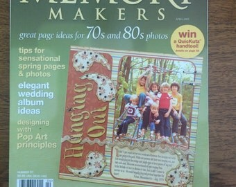 Scrapbook magazine Memory Makers April 2005 edition, back issue, scrapbook inspiration and idea book