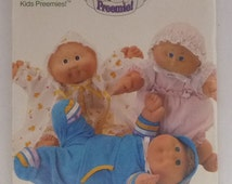 Preemie Cabbage Patch Kids Preemies clothes pattern Butterick 4331 baby dolls clothing to sew 1980s dolls cabbage patch kids