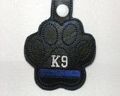 K9 Officer Key Fob, Thin Blue Line Dog, K9 Thin Blue Line, K9 Officer, Support Officers, Back The Blue, K9 Cop, All Lives Matter, Dog Collar