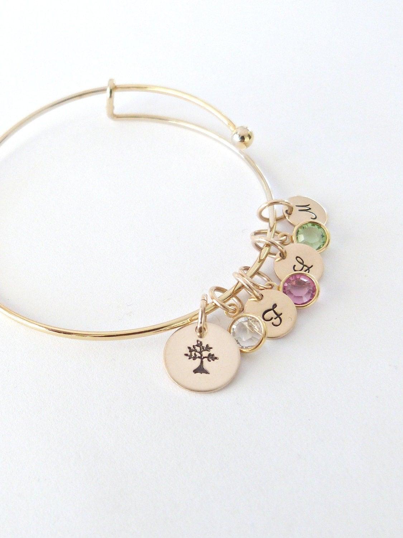 personalized family tree bracelet family tree bangle