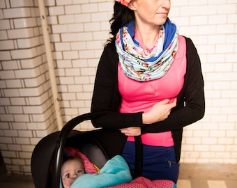 SALE Sleeping nest for Maxi Cosi 'Geometric fluo'