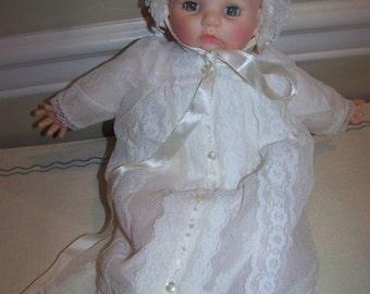Christening baby Victoria Madame Alexander
