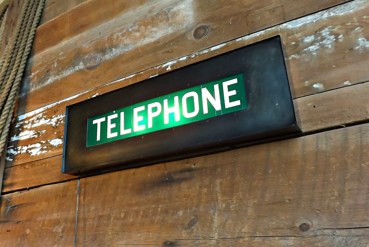 telephone sign light box phone booth marquee vintage telephone. Black Bedroom Furniture Sets. Home Design Ideas