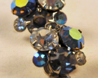 Vintage WEISS Aurora Borealis AB  Earrings - Enchanting