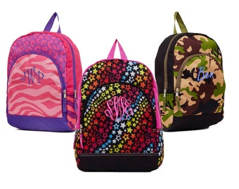 Kids Monogram School Backpack, Personalized School Kids Backpack, Monogrammed Children's Backpack - Almost Gone!
