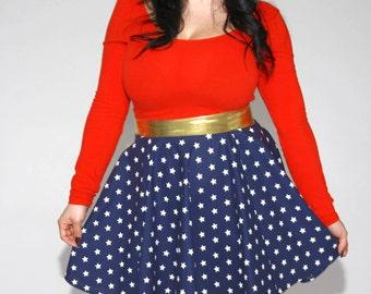Wonder Woman Circle Skirt